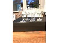 5 x wine glasses