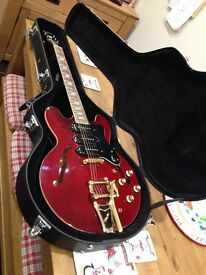 Epiphone Riviera Custom 93 with brand new fitted case