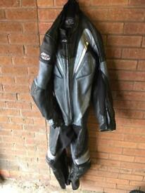 RST one piece motorcycle leathers