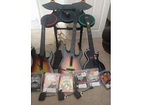 PS3 Guitar Hero Drums, Guitars and 6 Games