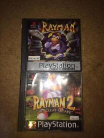 Rayman 1 and 2 for Sony PlayStation one