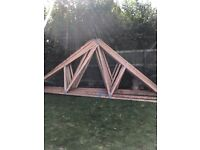 Double garage roof trusses