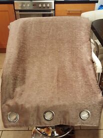 Taupe ring top curtains 90 x 90