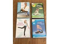 Workout dvd's - yoga, ballet and pilates