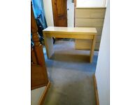 Ikea Malm glass top dressing table