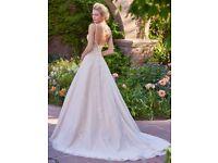 Rebecca Ingram Alison backless princess circle skirt wedding dress 8-10