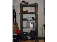 Wooden bookcase £7