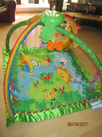 FISHER PRICE RAINFOREST PLAY GYM(STILL FOR SALE DUE TO TIMEWASTERS)