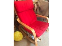 Red Rocking Chair good as New