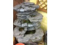Como Springs slate water feature (waterfall) including internal lighting for night-time effect