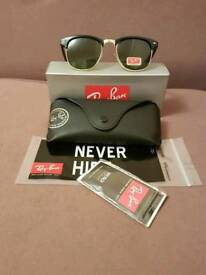 Ray-ban clubmaster sunglasses green tint