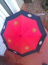 Man Utd/Gulf Oil umbrella - NEW