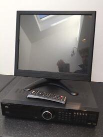 SAMSUNG SRD-1650DC 16 CHANNEL CCTV CIF H.264 DIGITAL VIDEO RECORDER DVR 1T with HDMI Monitor