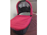 Uppababy Bassinet Cot/Travel cot, Organic sheets and connectors for pushchair