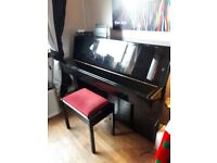 Yamaha C110A Upright Piano & stool - one owner from new