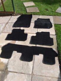 vauxhall zafira tourer , full set cloth car mats , from 2014 year