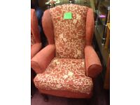 Victorian style high back chair (only 1 remaining)