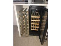 wine rack and wine fridge