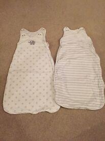 2 beautiful baby sleeping bags 6 - 18 months