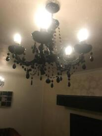 3x chandelier ceiling lights