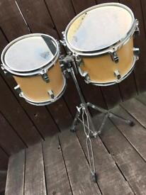 """Stagg 8"""" & 10"""" Toms/Stand Remo Skins. Used. TLC req. £20. Wallsend"""