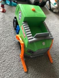 XLARGE paw patrol rocky car,makes noises and lights up rrp£35!