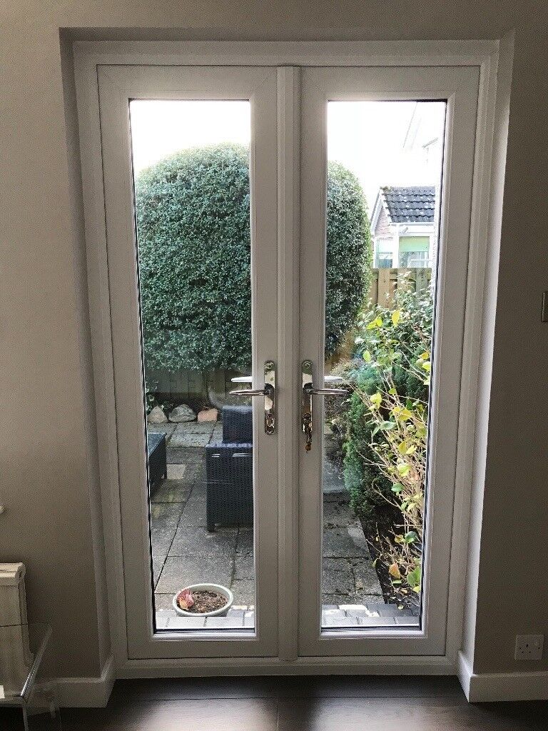 brand new 8e052 65447 UPVC white patio doors and frame. Chrome handles. Nearly new. Perfect  condition 119cm W x 200cm H | in Aberdeen | Gumtree