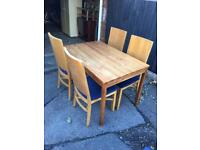 TABLE AND 4 CHAIRS SHABBY CHIC PROJECT *** FREE DELIVERY IS AVAILABLE ***