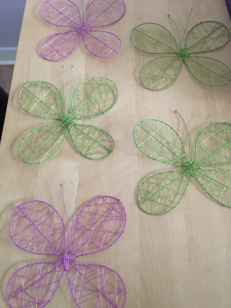 DECORATIVE METAL BUTTERFLY'S