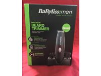 New - Babyliss Cordless Precision Beard Trimmer