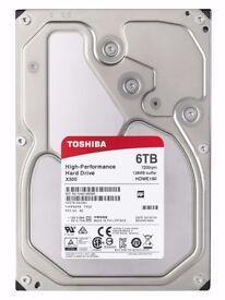 "Toshiba X300 6TB 7200RPM 128MB 3.5"" SATA HDWE160EZSTA"