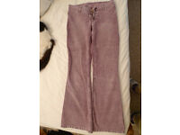 H&M Divided dusky pink corduroy jeans
