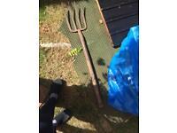 Free garden fork good for poking stuff 🙂