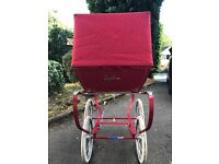 Dolls silver cross pram with pillow and cover sets
