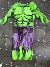 Kids talking hulk fancy dress, dressing up costume