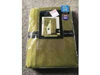 Brand New fully lined Olive 66x72 inch curtains