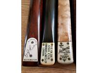 OLD 1 PIECE SNOOKER CUES WANTED