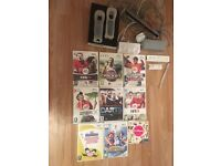 Wii console n 9 games £15