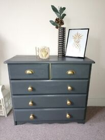 Charcoal grey chest of drawers