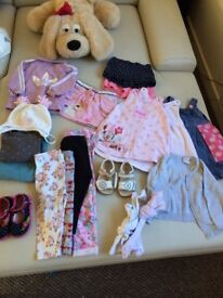 Bundle of clothes for a girl 0-2yo