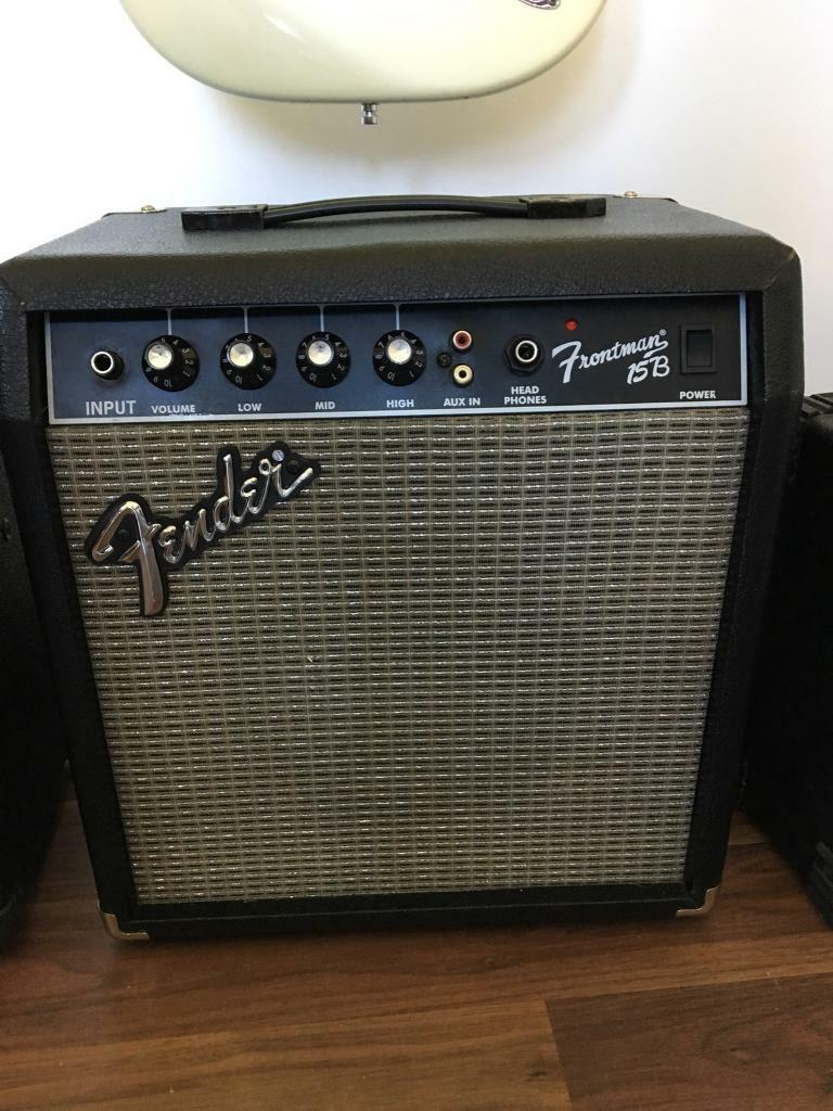 fender frontman 15b bass guitar amplifier in brighton east sussex gumtree. Black Bedroom Furniture Sets. Home Design Ideas