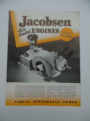1940 Jacobsen 34 And 1 Hp Air Cooled Engine Catalog Brochure Racine Wi Vintage