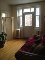 Charming, semi-furnished, heated third-floor apartment