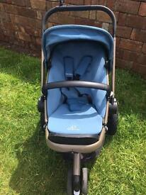 Quincy buzz pram and baby seat