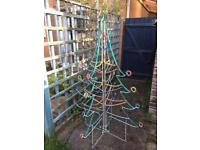 6ft standing outdoor Christmas tree lights