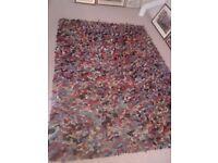 Very unusual multi coloured felt rug