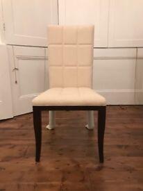 Cream Cushioned Chairs