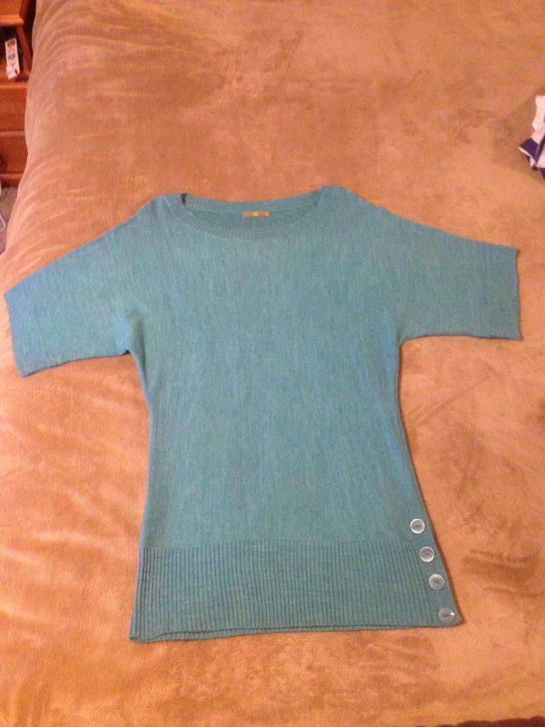 Tu long top in turquoise size 12