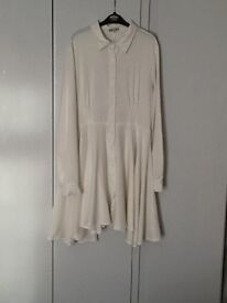 White/cream t- Shirt dress size 12
