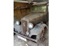 Austin 12 ascot Barn find restoration project classic vintage car 1936 complete